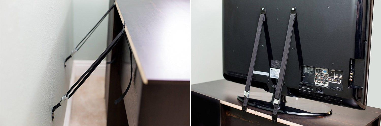 Schützen Sie Ihre Kinder (und Ihr schönes neues Fernsehgerät) mit preiswerten Sicherheitsgurten