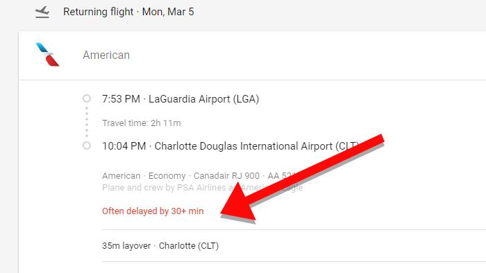 Google Flights werden Ihnen jetzt mitteilen, ob der Flug verzögert werden kann
