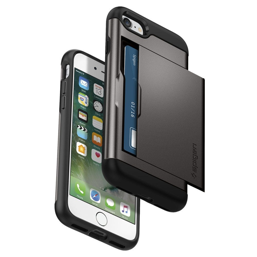 the spigen slim armor cs is a great two for one option that acts as a sturdy protective phone case and a credit card holder too - Best Card Holder Wallet