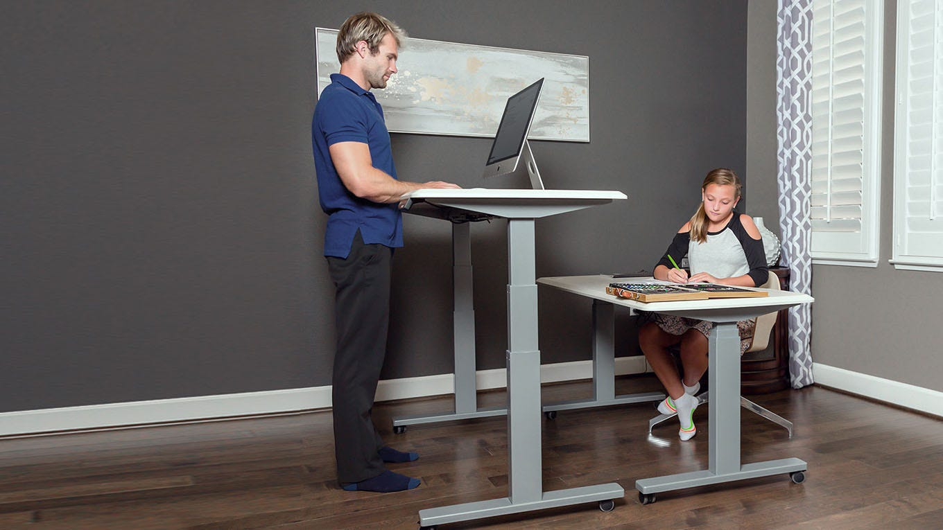 is a standing desk better for you FlexiSpot Standing Desk Review: Sit, Stand, or Even Cycle   F3News is a standing desk better for you