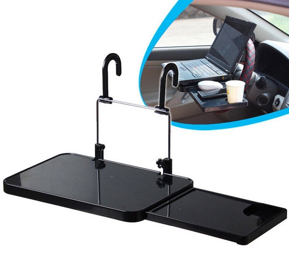 the best car desks for workers on the go review geek. Black Bedroom Furniture Sets. Home Design Ideas