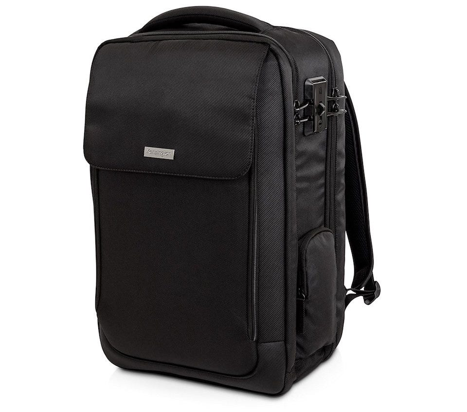 a7f6c005d483 The Kensington SecureTrek Lockable Anti-Theft Laptop Backpack is the ideal  solution if you want a backpack that s a little more like a holdall or carry-on  ...