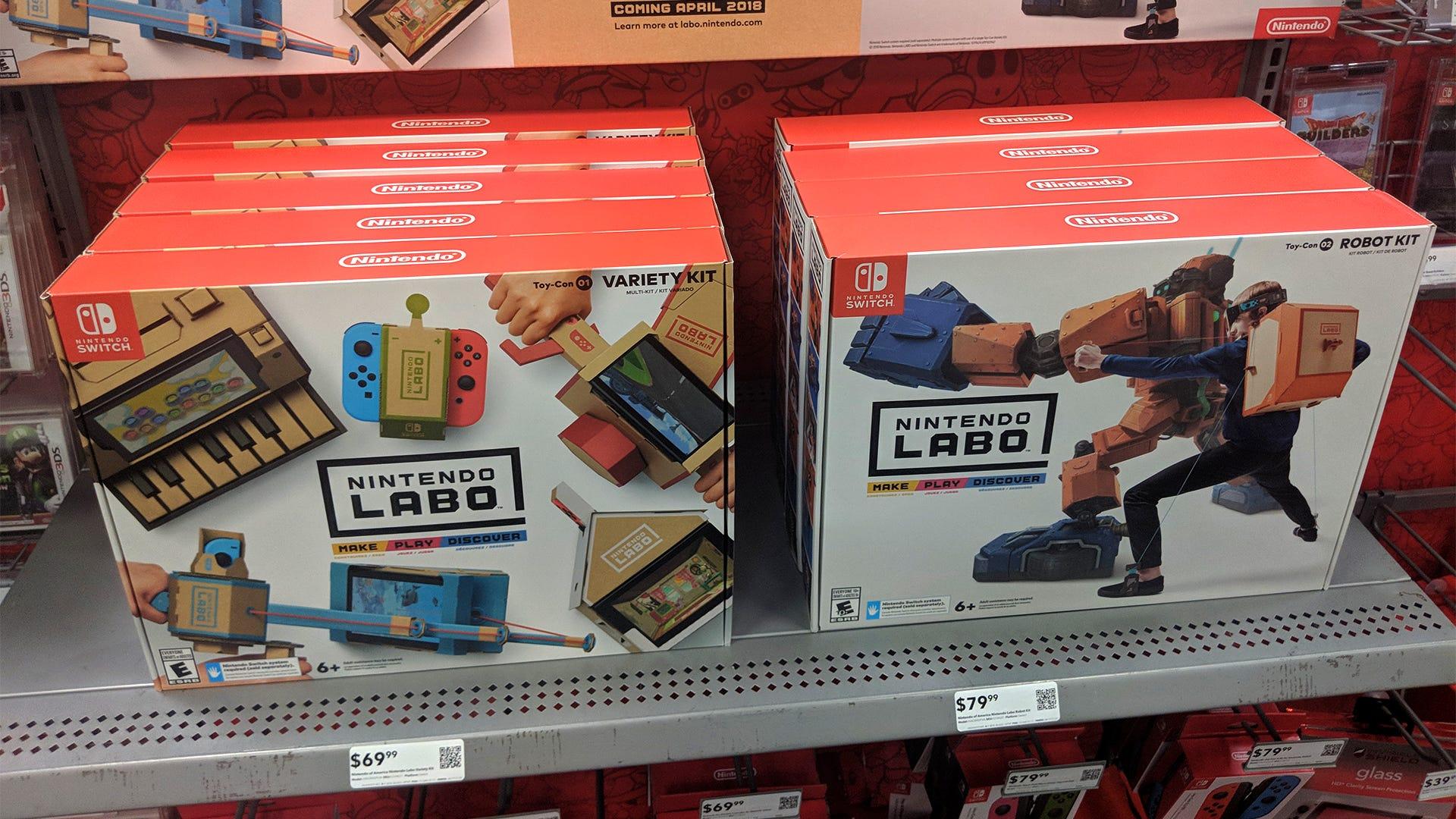 Nintendo Labo Kits sind heute in den Läden, beginnend bei $ 69