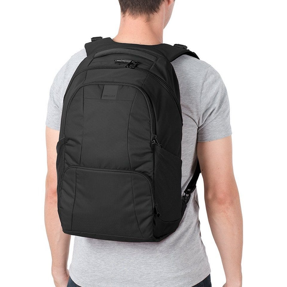 0a88a8242171 All of Pacsafe s backpacks and carry on bags are great for providing  extensive anti-theft protection. We ve gone with the Anti-Theft 25L Backpack  as an ...