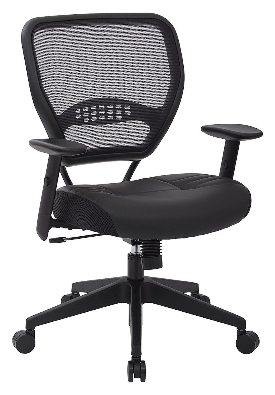 The Space Seating Professional Airgrid Dark Back And Padded Black Eco Leather Seat Might Look More Lightweight Than Other Chairs Here But That Just