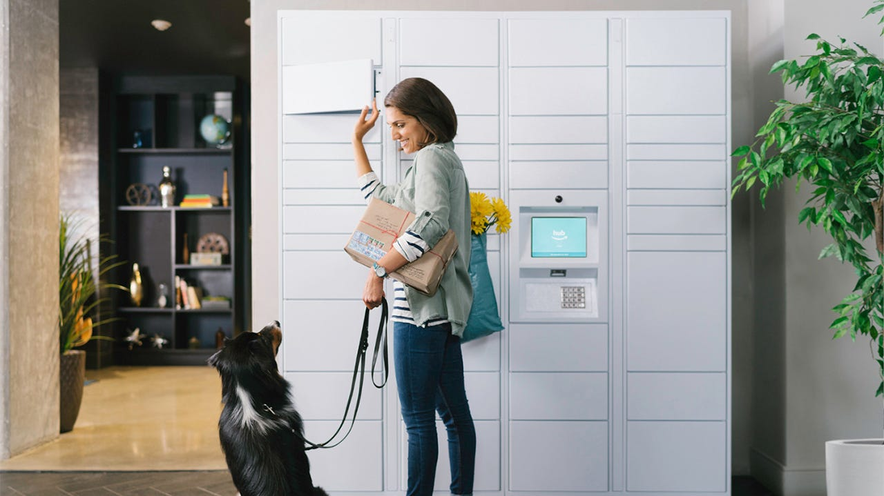 amazon s locker delivery is coming to an apartment complex near you review geek. Black Bedroom Furniture Sets. Home Design Ideas