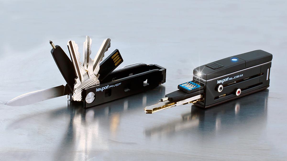Keyport, keyring, keychain alternative, keychain, key slider