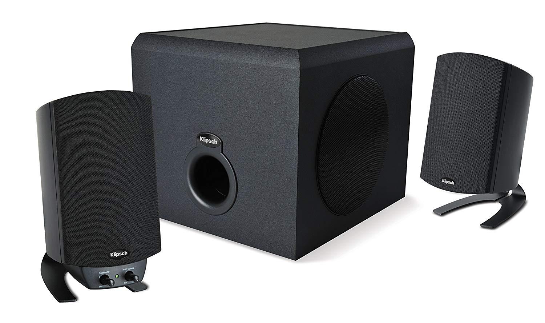 speakers, pc speakers, promedia, klipsch, 2.1 speakers