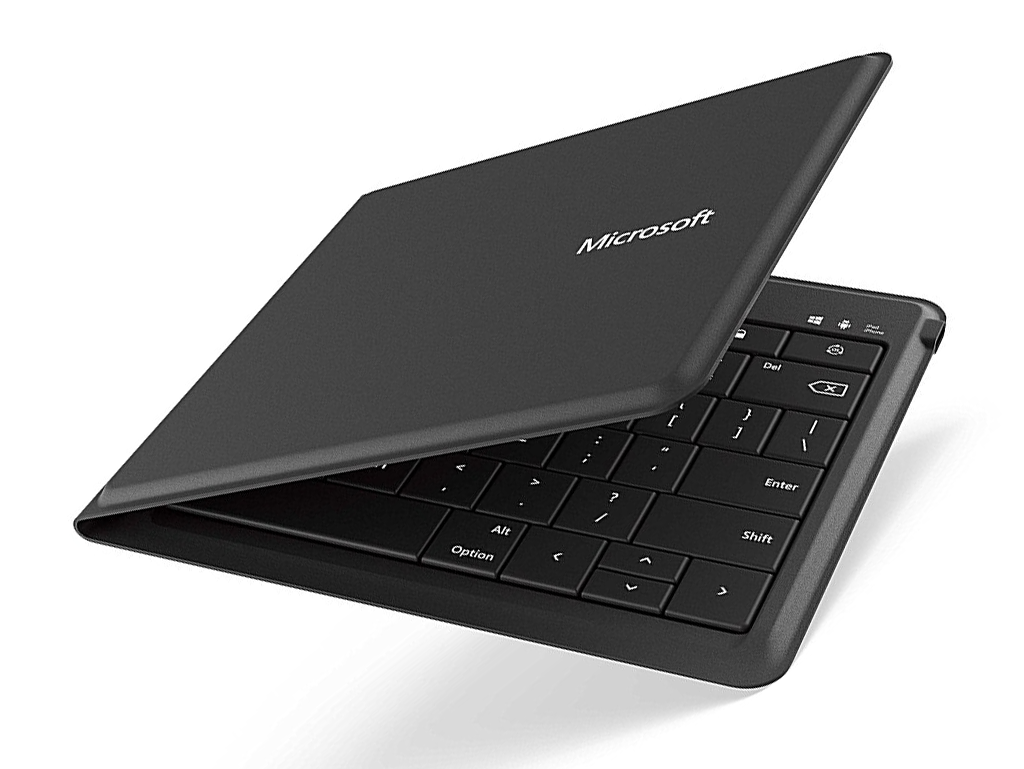 Die Beste Kompakte Mobile Tastatur: Microsoft Universal Faltbare Tastatur  ($ 85)