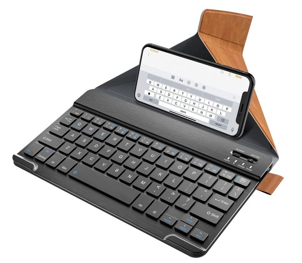 njulaxy, bluetooth, bluetooth keyboard, phone keyboard, tablet keyboard, kickstand,