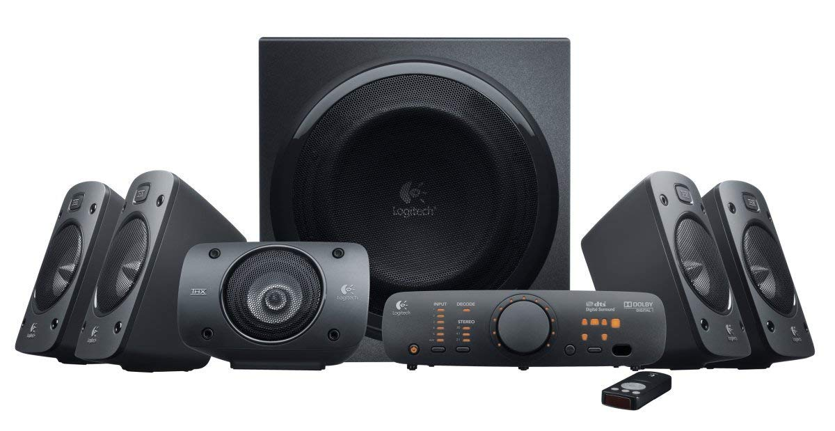 logitech, speakers, surround sound, z906, gaming speakers,