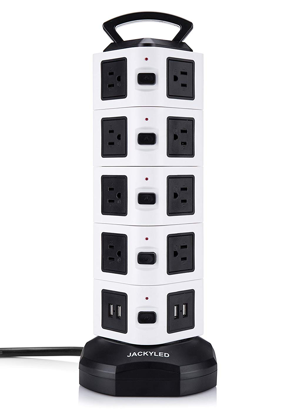 jackyled, charging tower, outlet, 18, power outlet, usb, surge protector,