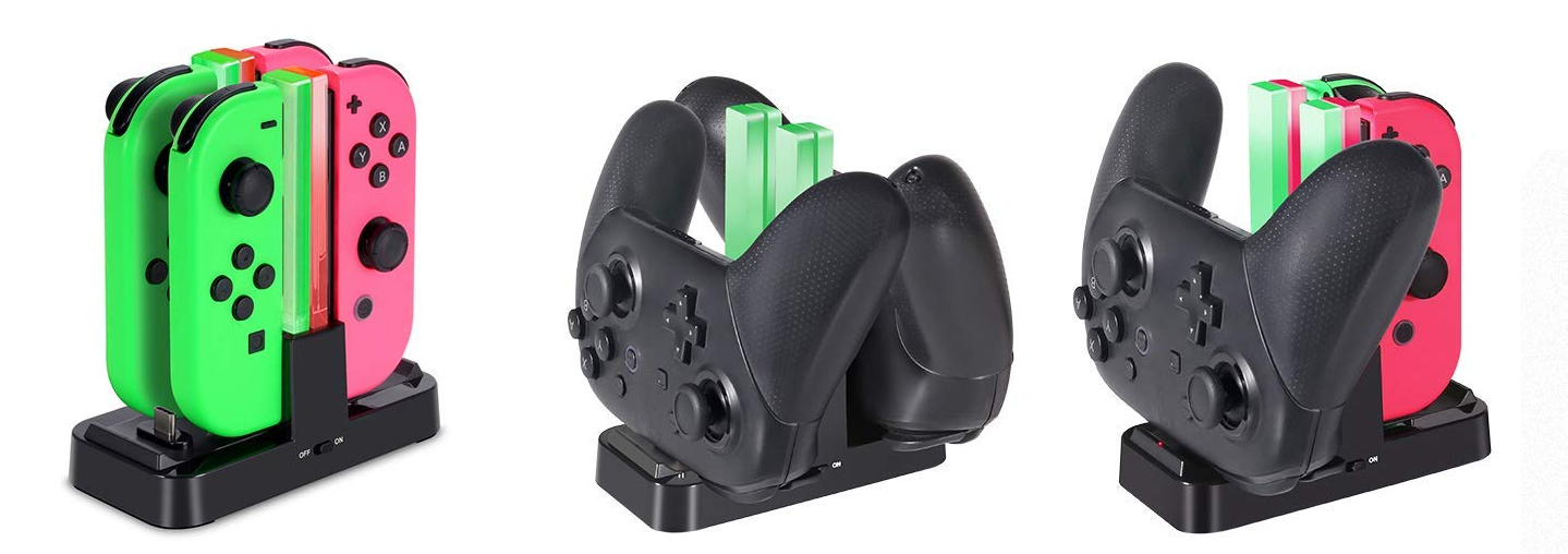 Switch controller, switch pro controller, joy-con, switch charger, joy-con charger,