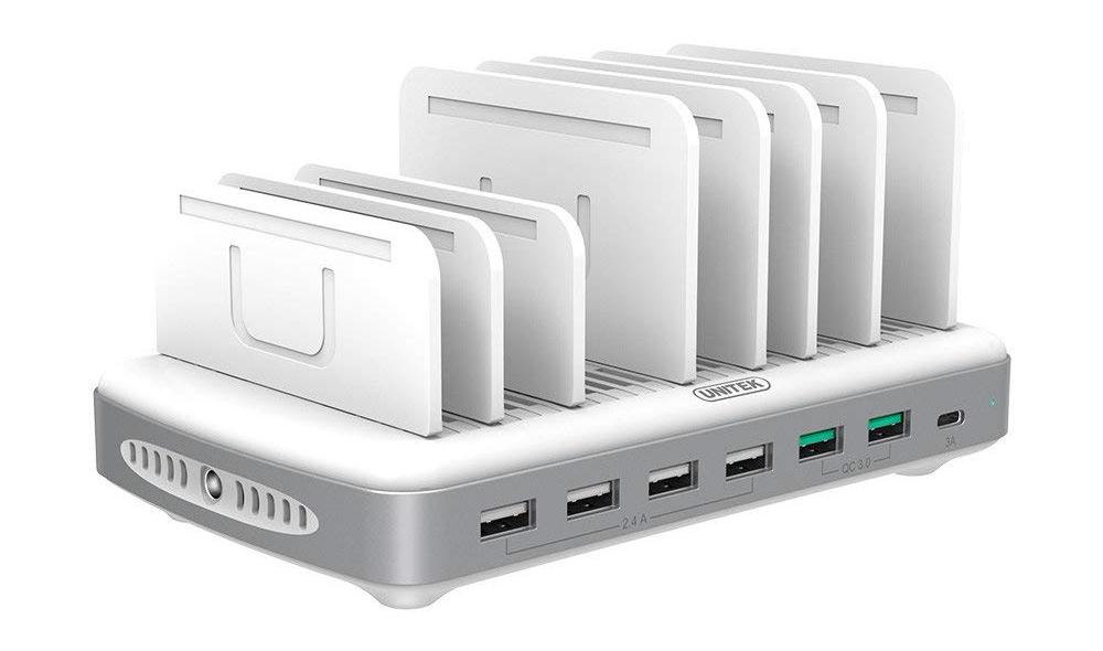 unitek, charging station, usb-c, multi-device charger,