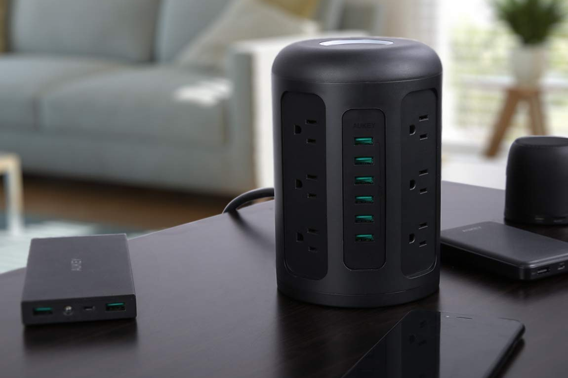 aukey, usb, outlet, charging tower, usb, powerhub,