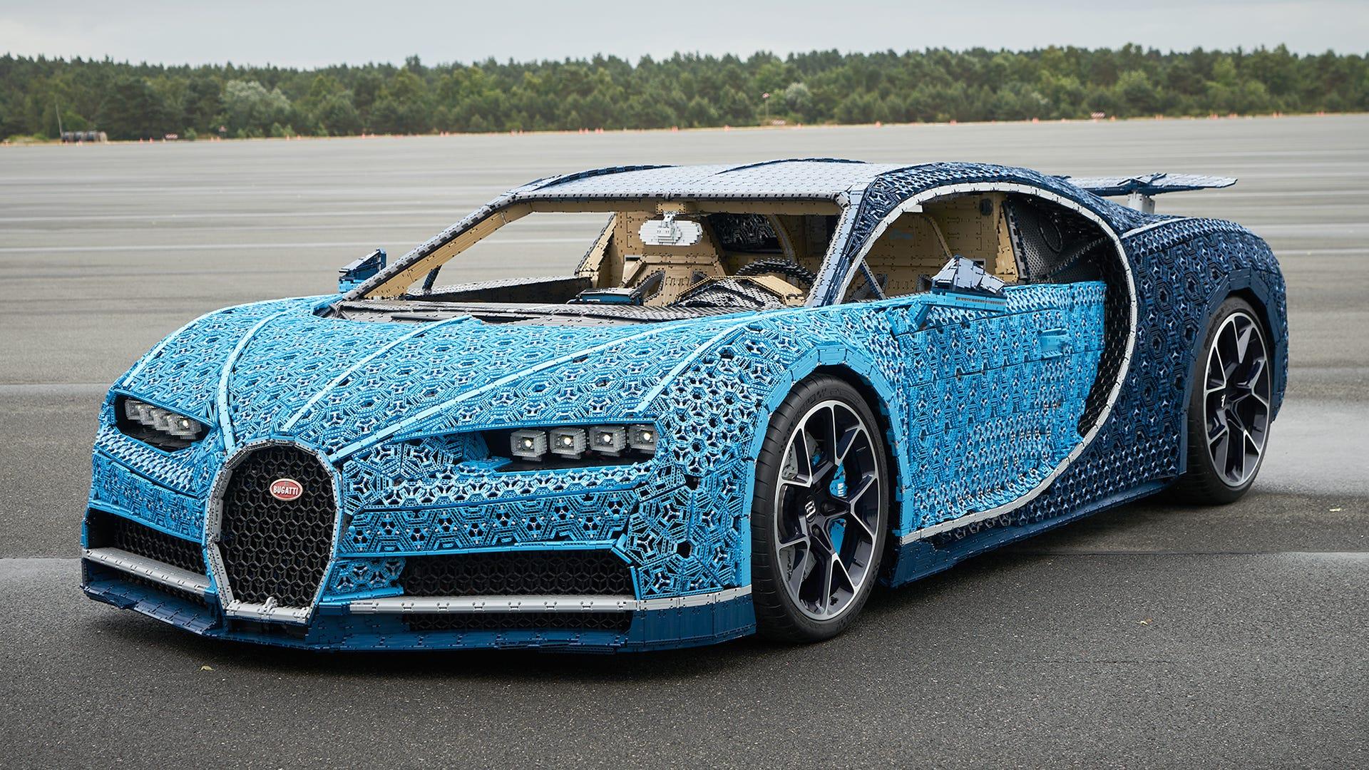 Der Millionen-Lego Bugatti erreicht eine Höchstgeschwindigkeit von fast 19 Meilen pro Stunde