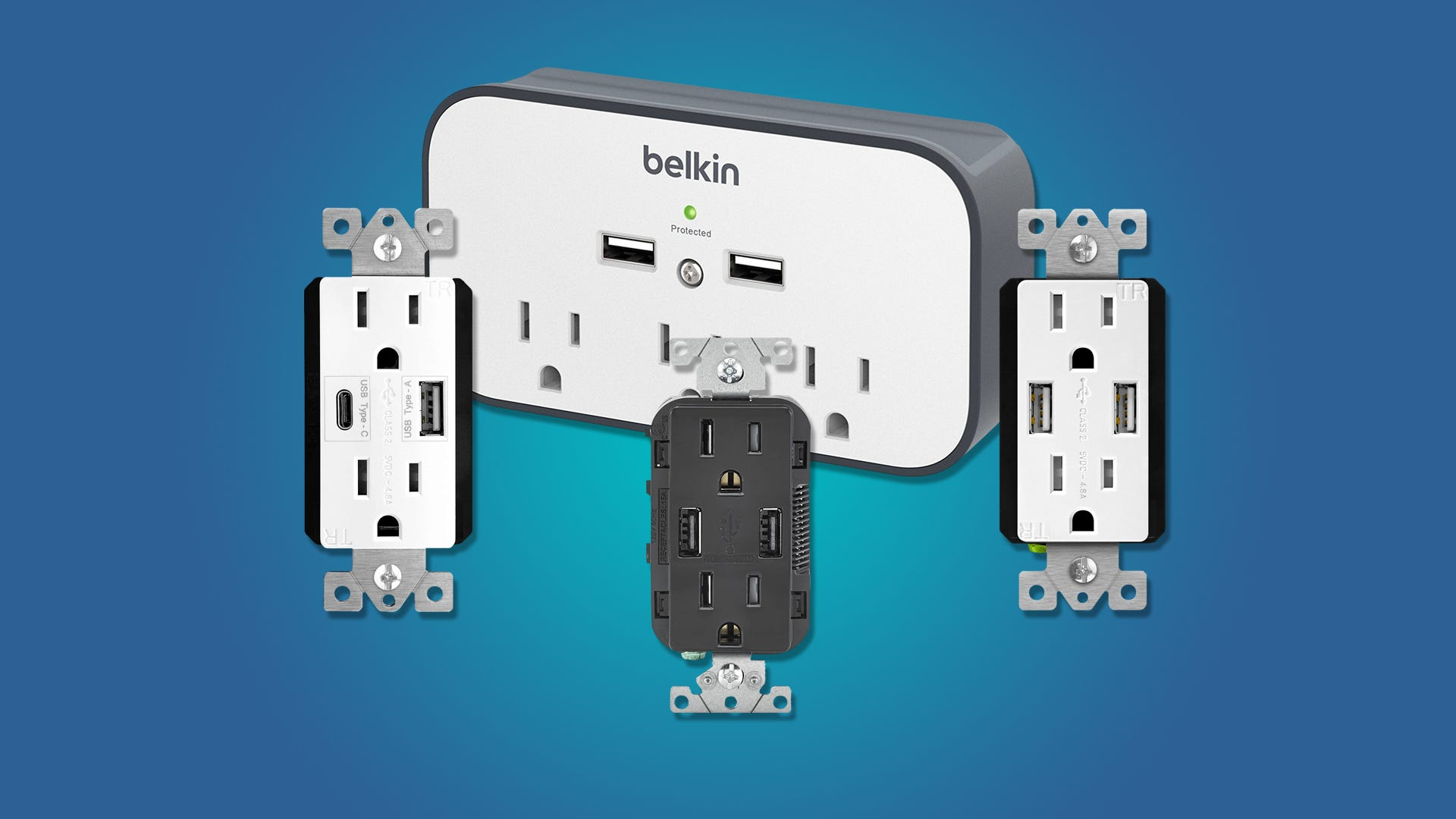 the best wall outlets with usb ports review geek. Black Bedroom Furniture Sets. Home Design Ideas