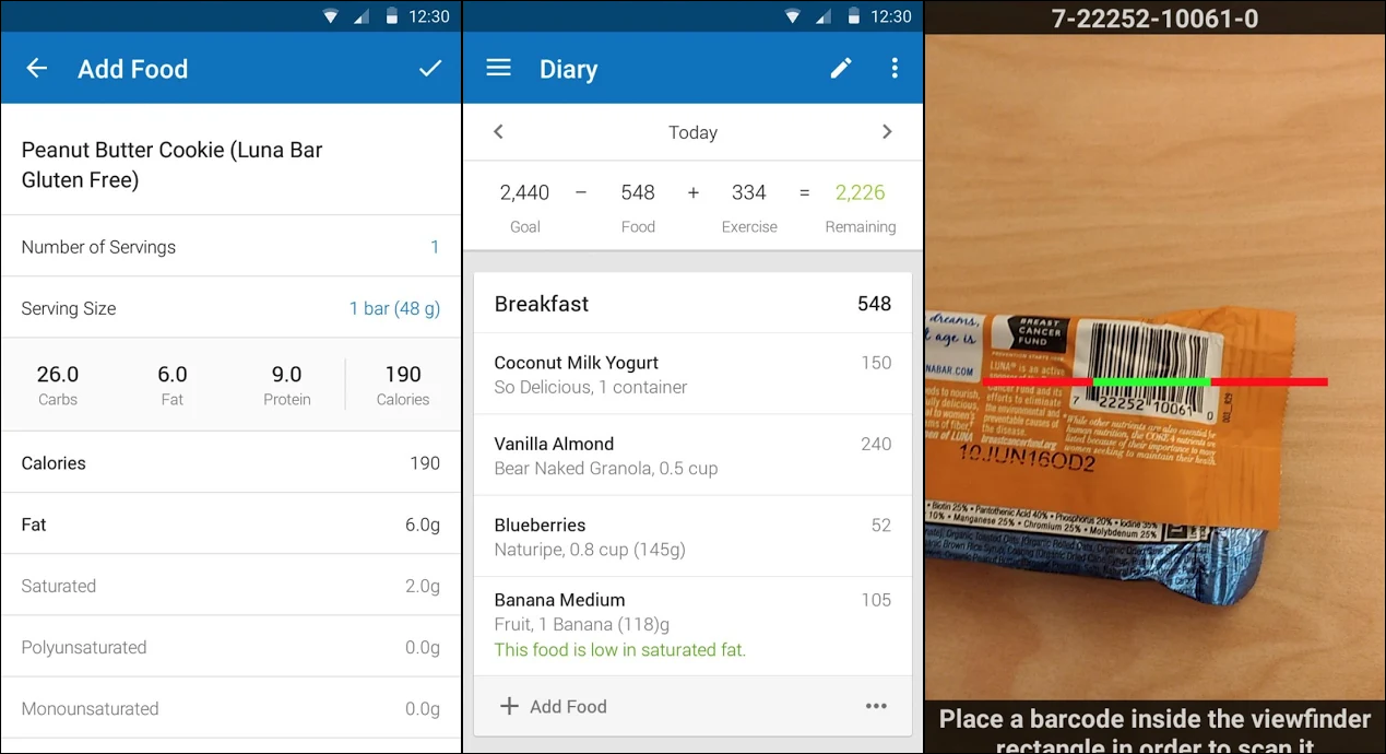 myfitnesspal, calorie tracker, calorie app, fitness app, ios, android