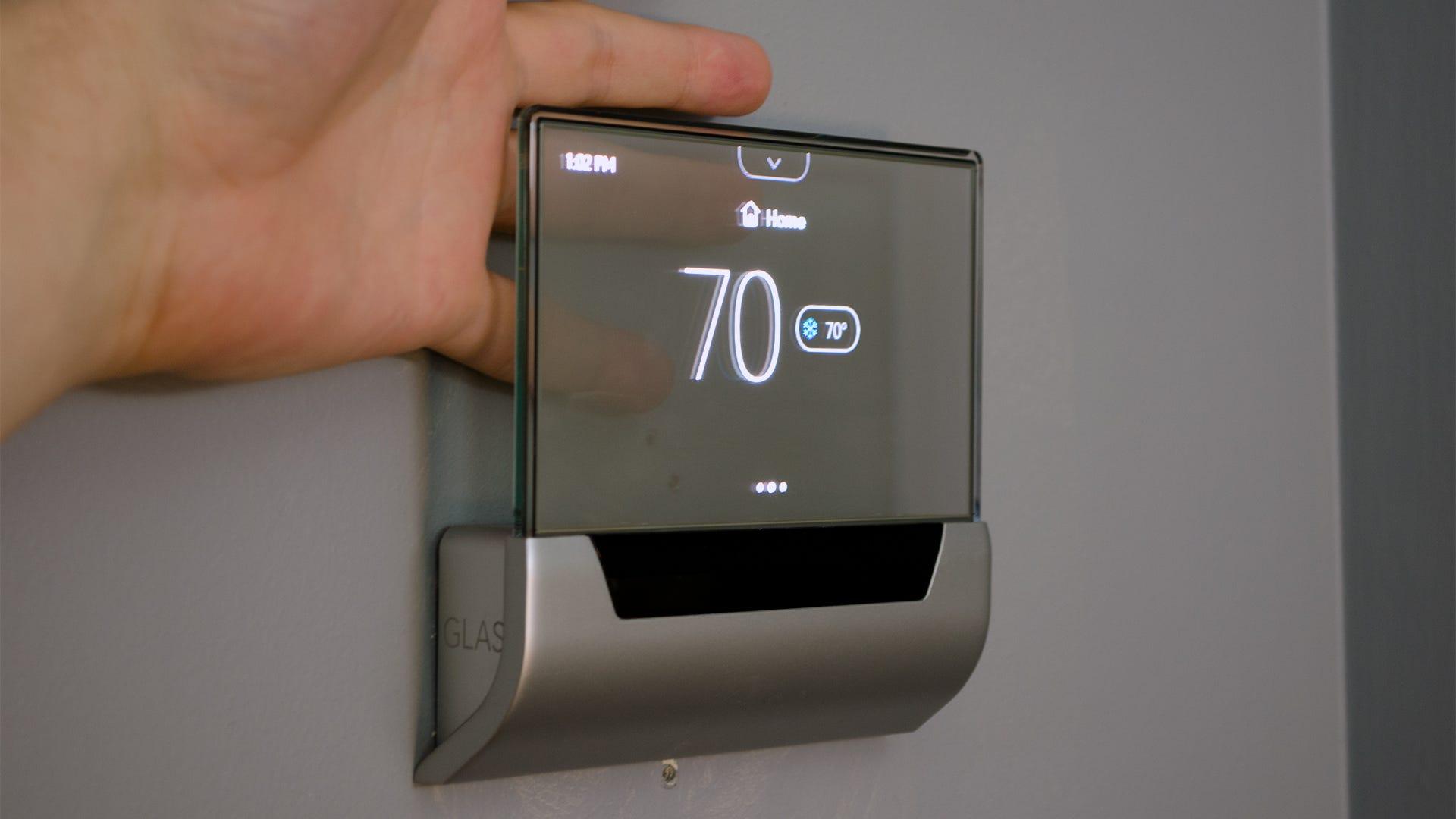 glas thermostat review ein h bscher noch durchschnittlich smart thermostat. Black Bedroom Furniture Sets. Home Design Ideas