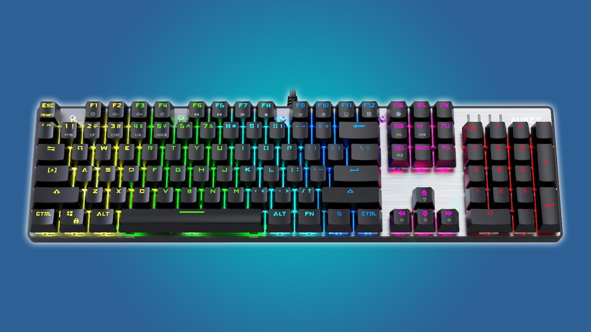 aukey, keyboard, mechanical keyboard