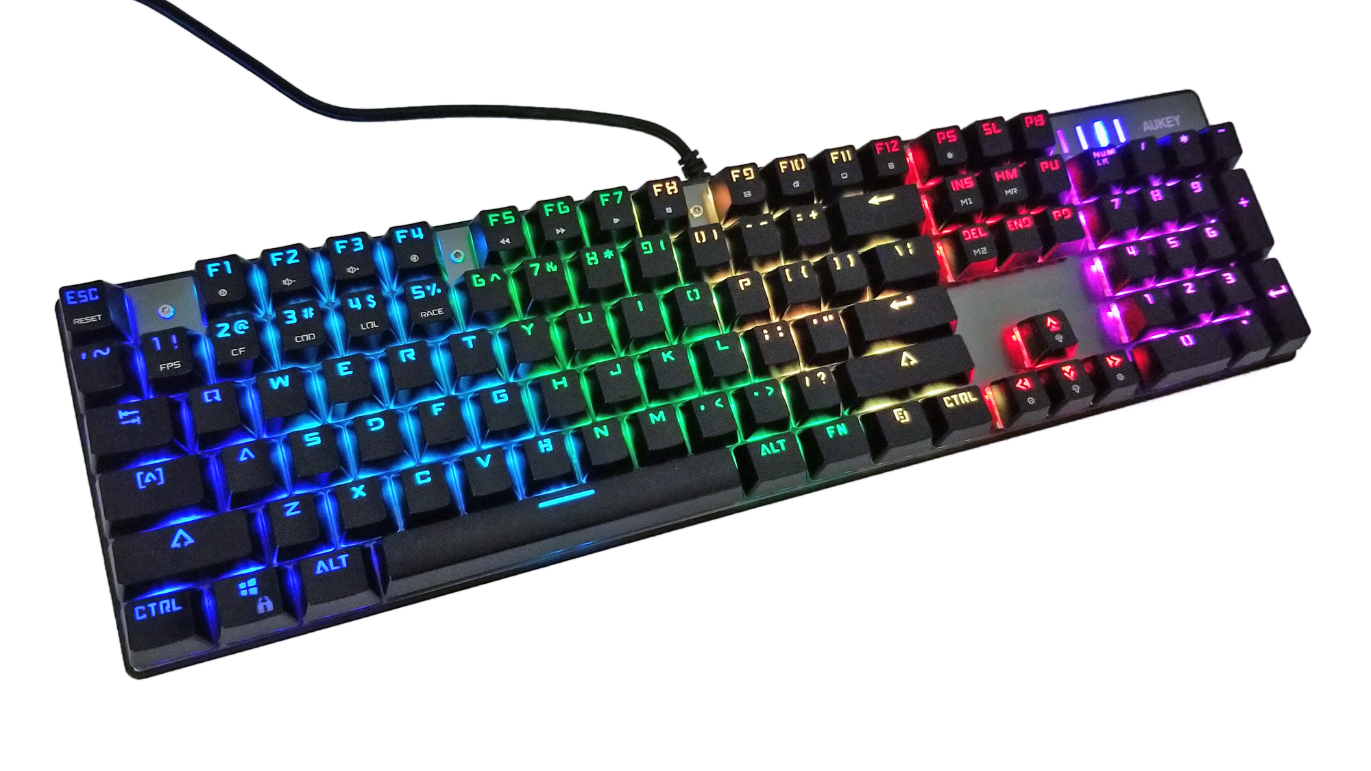aukey, keyboard, mechanical keyboard, km-g3, rgb, aluminum