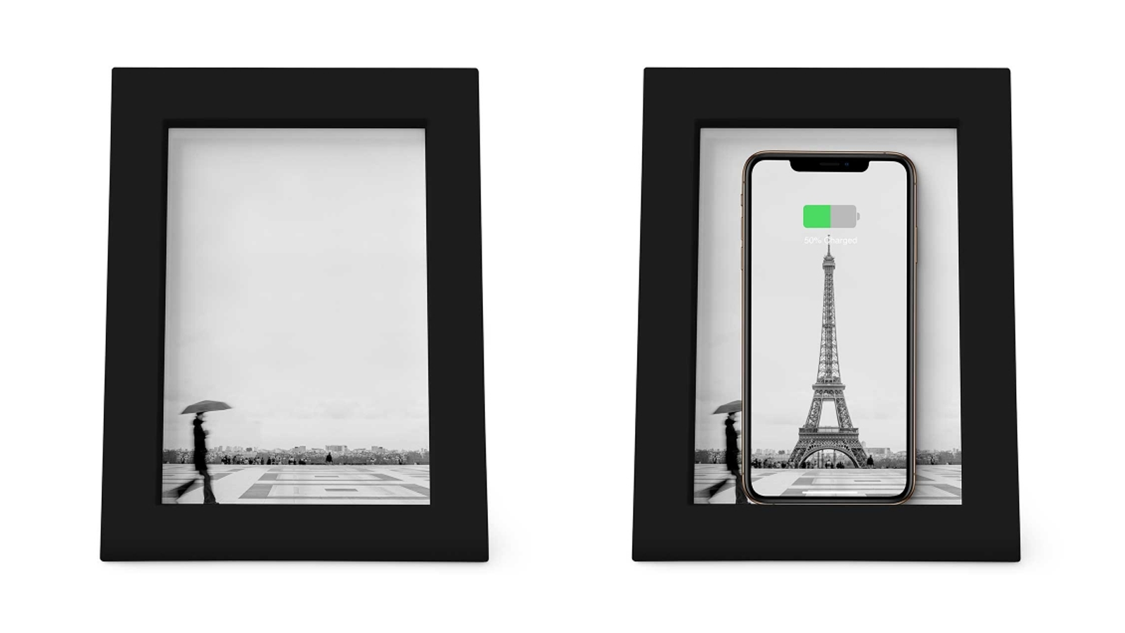 wireless phone charger, photo frame, picture frame,