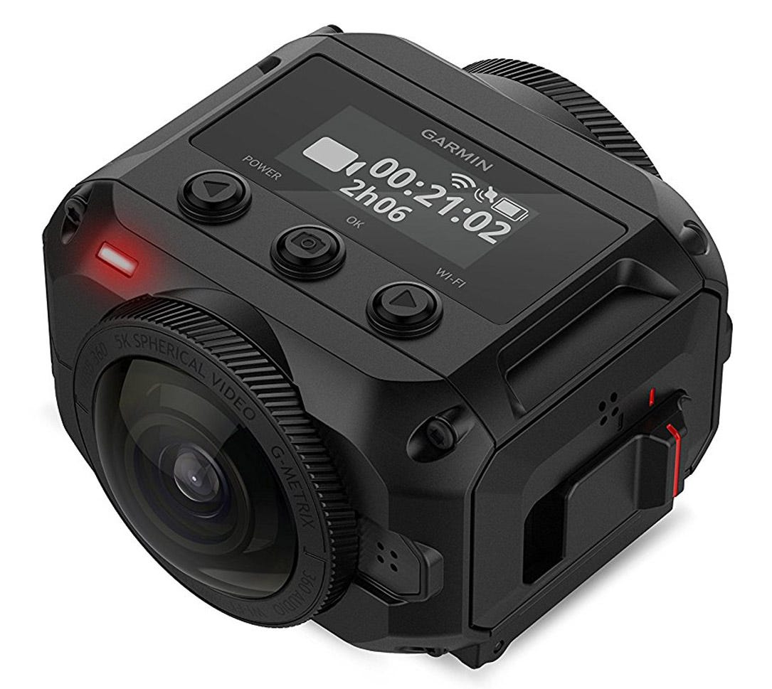 garmin, virb, camera, virb 360, 360 degree,