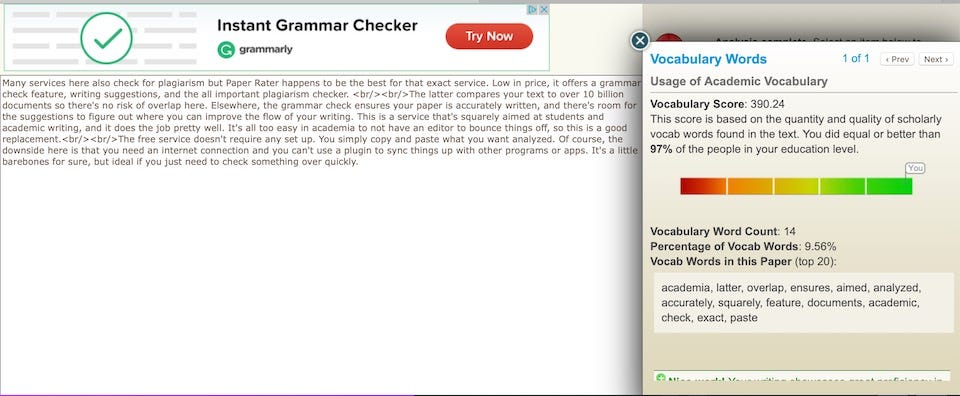 grammar rater