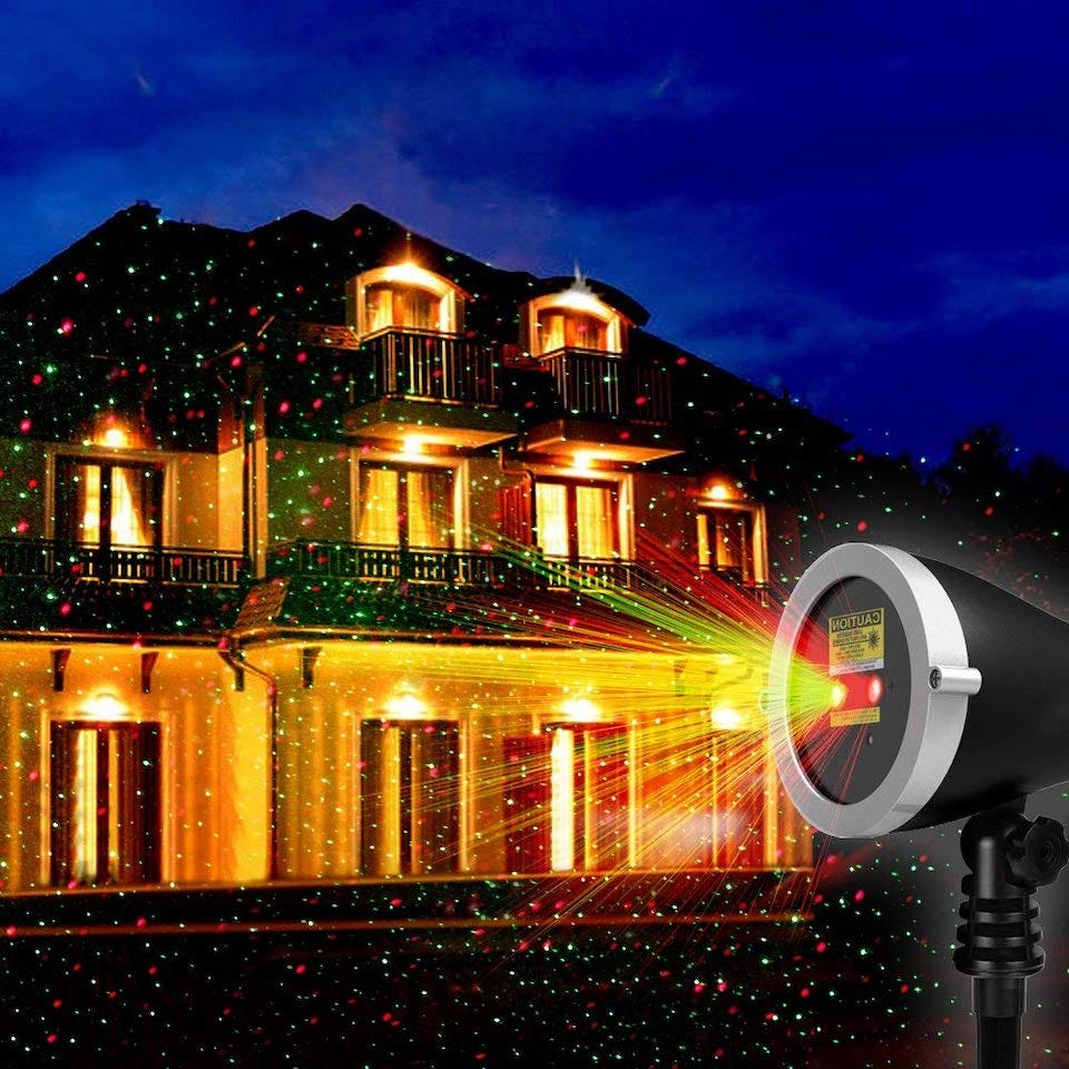 1byone Christmas Outdoor Laser Light Projector 30