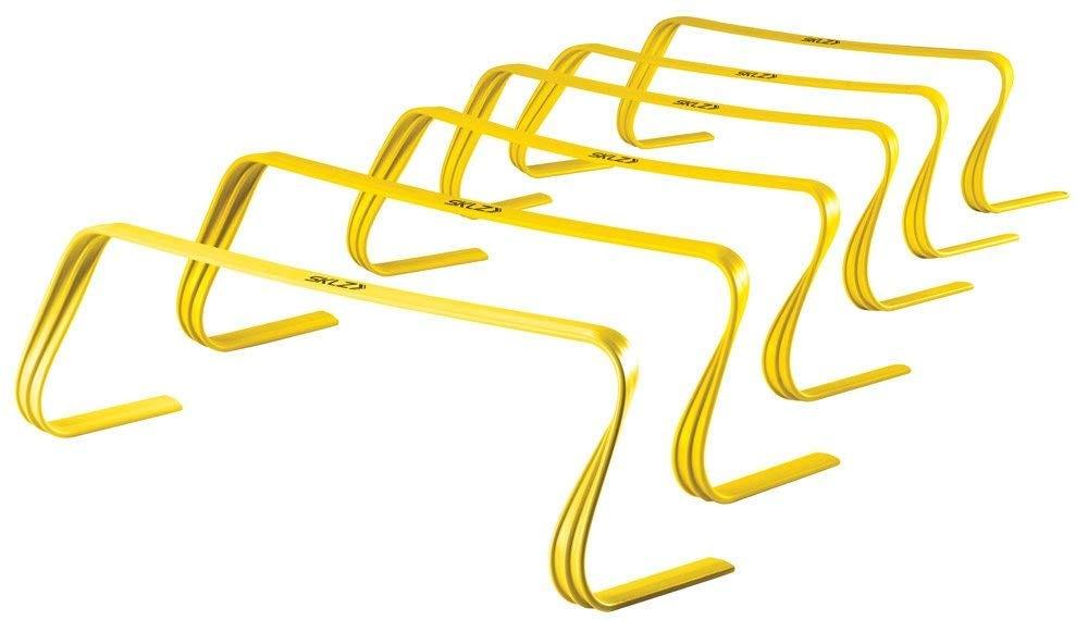 yellow agility hurdles