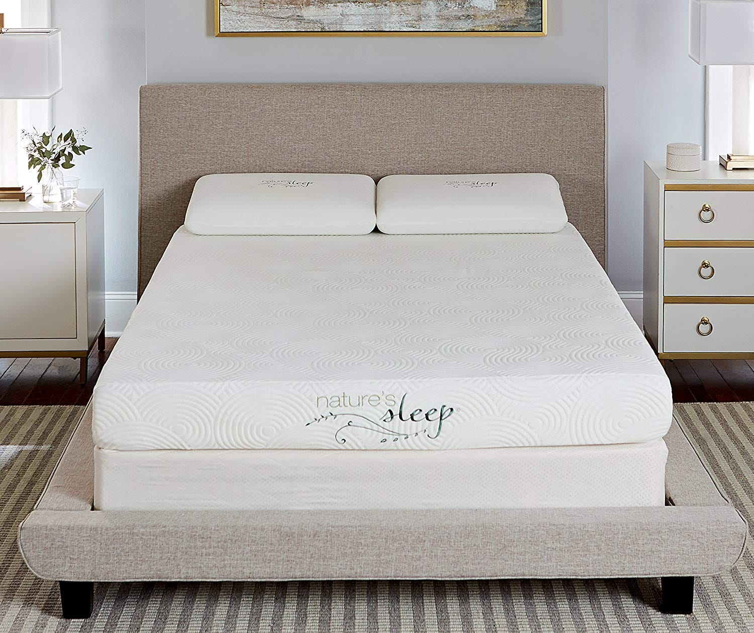 nature's sleep, foam mattress, firm, inexpensive, cheap, gel,