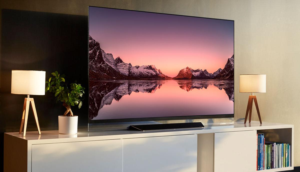 An LG OLED TV.