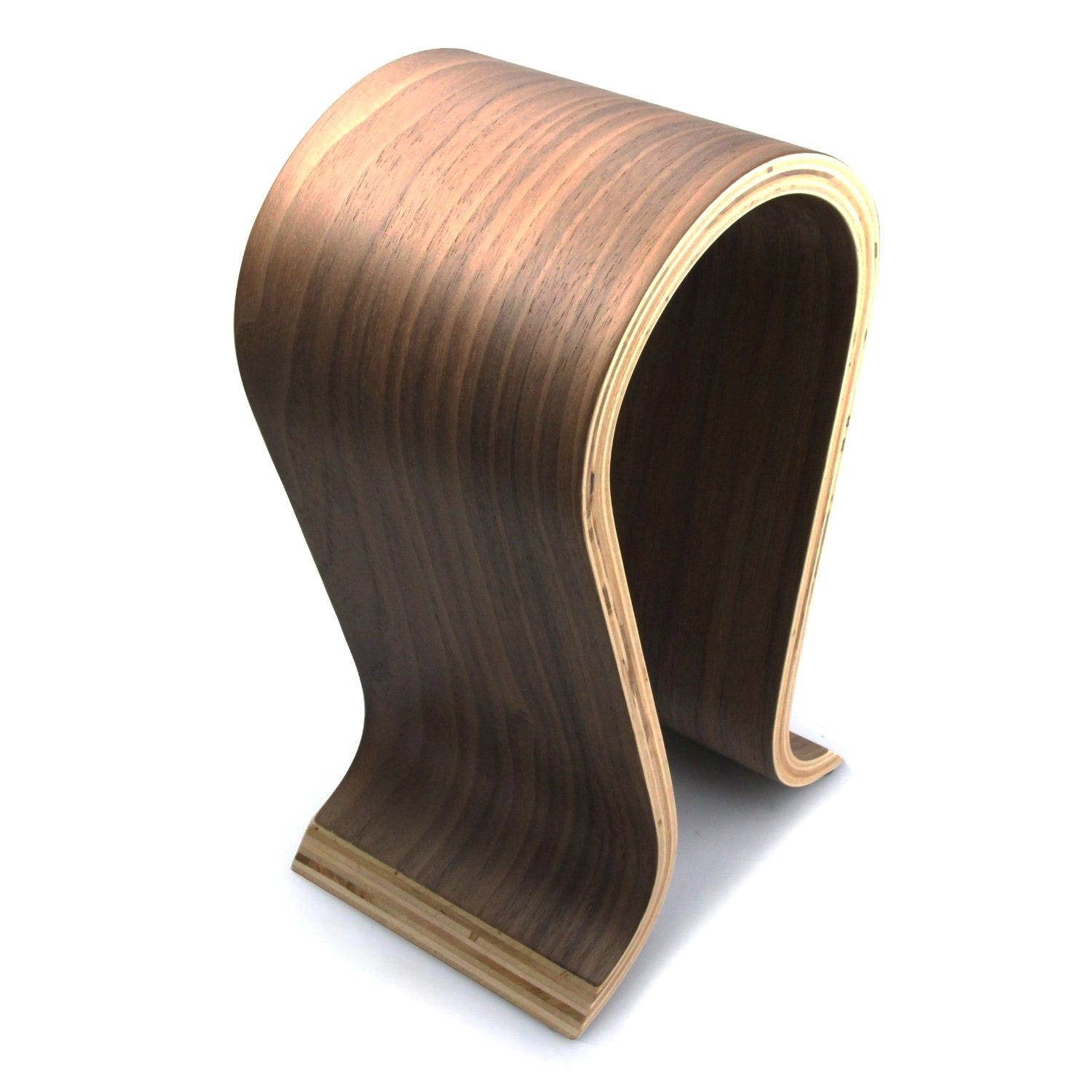 Omega wooden headphone stand