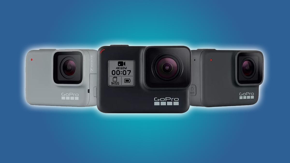 Three GoPro cameras. Article header image.