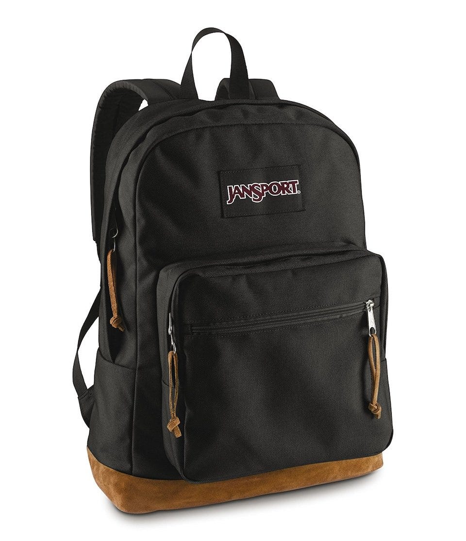 classic black JanSport backpack