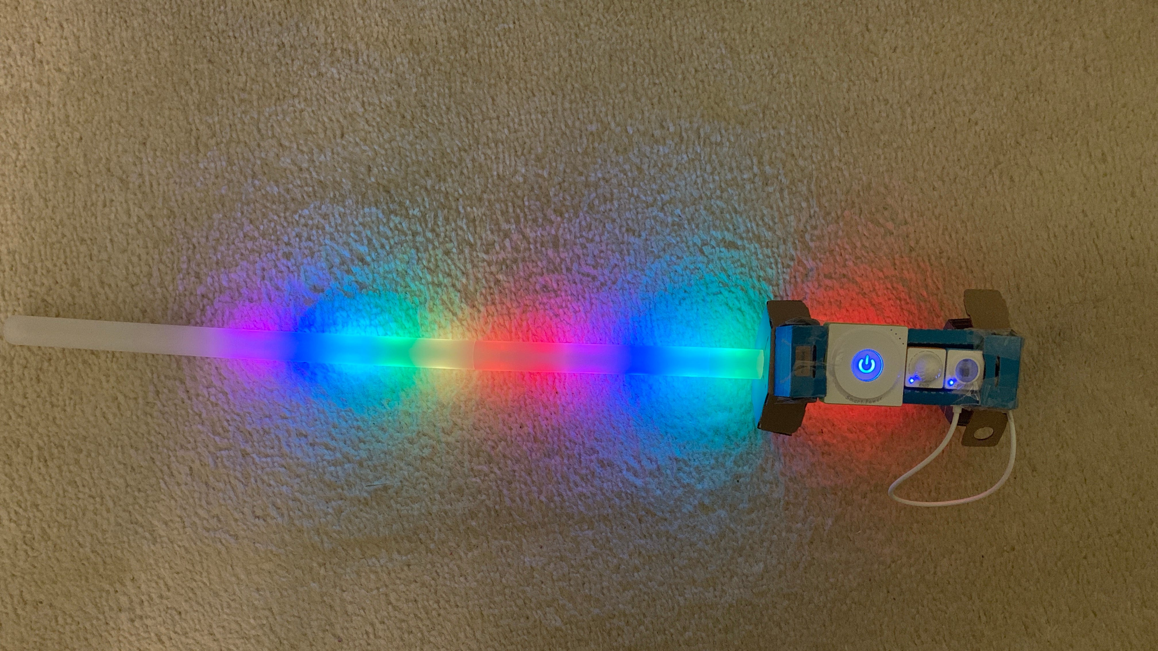 A Finished Example of a LED Sword From The Makeblock Neuron Explorer Kit