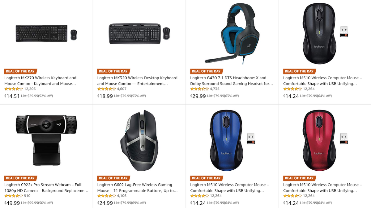 Logitech sale on Amazon