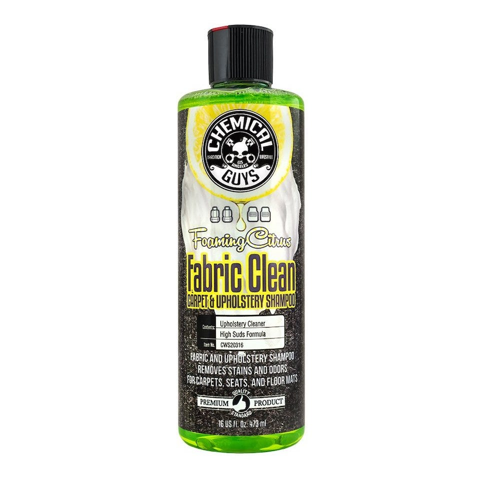 Chemical Guys Foaming Citrus Fabric Clean and Upholstery Shampoo