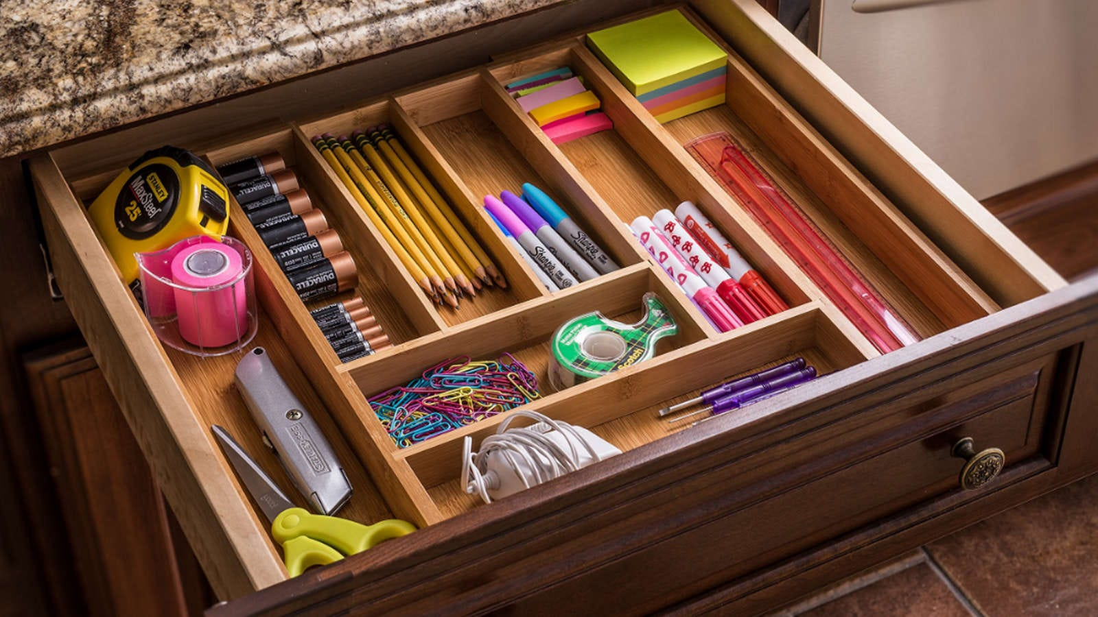 Spend Less Time Looking For Stuff And More Time On The Important Things By  Upgrading Your Drawers, Big And Small, With These Great Organizers.