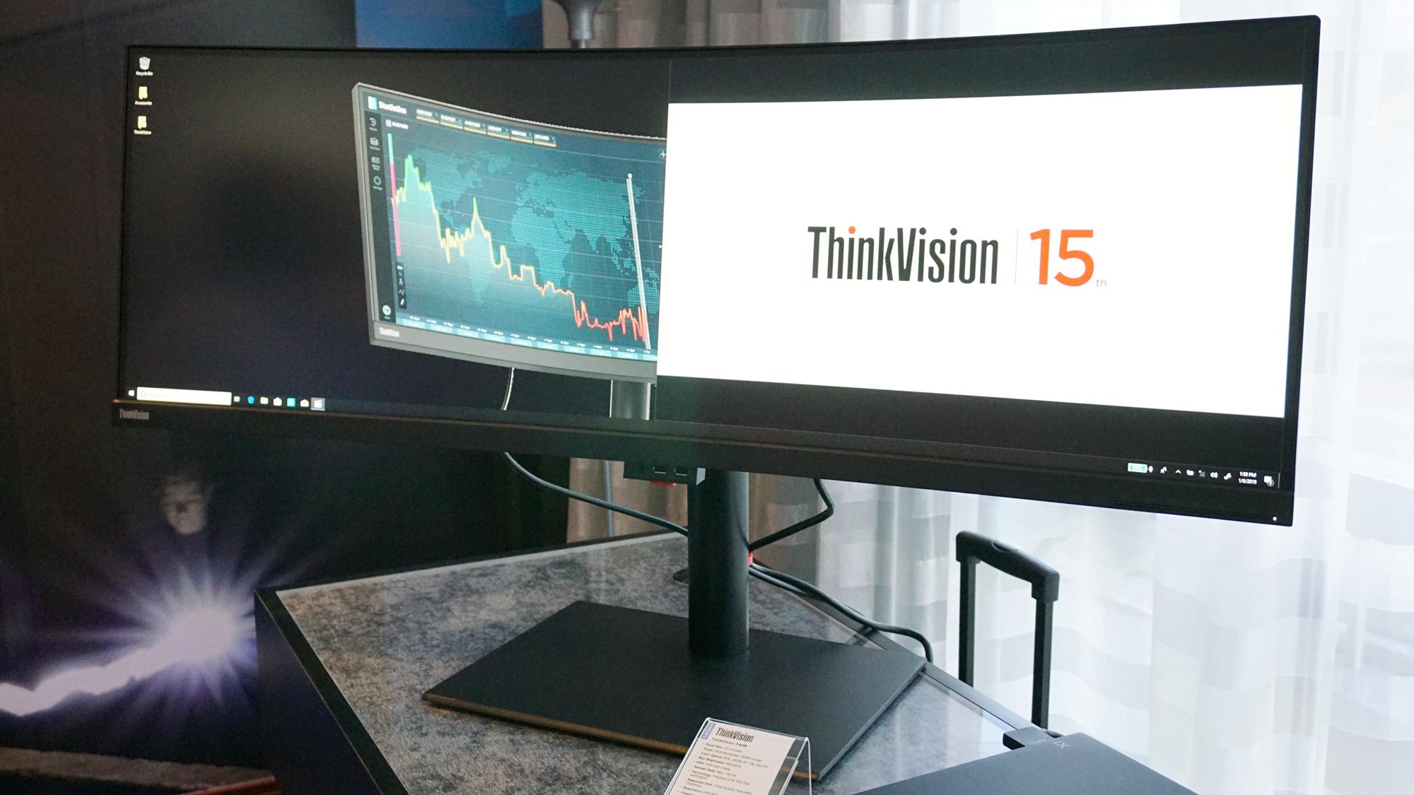 Lenovo stellt zwei 43-Zoll-Ultrawide-Monitore vor: einen für den Spieler, einen für das Büro