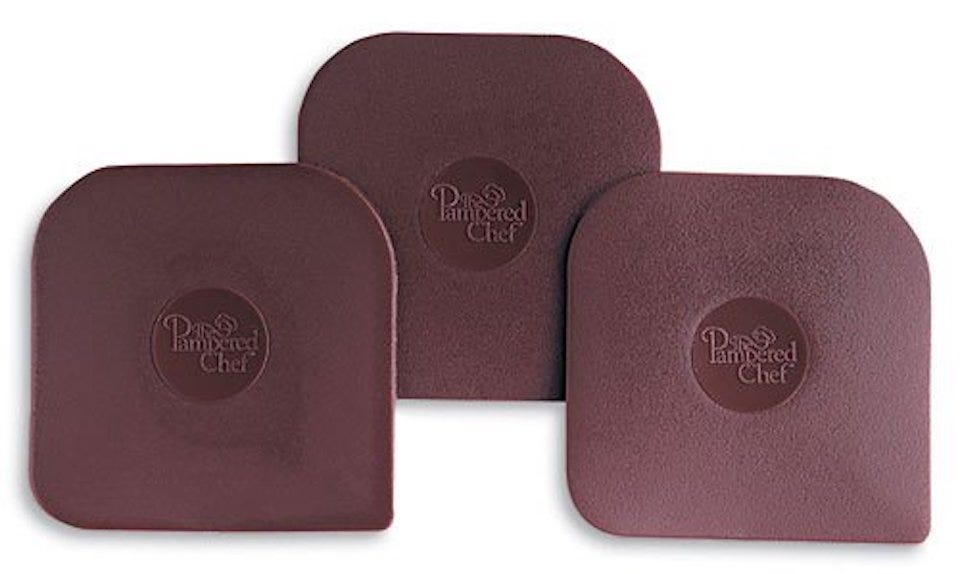 Pampered Chef Nylon Pan Scrapers Set of 3