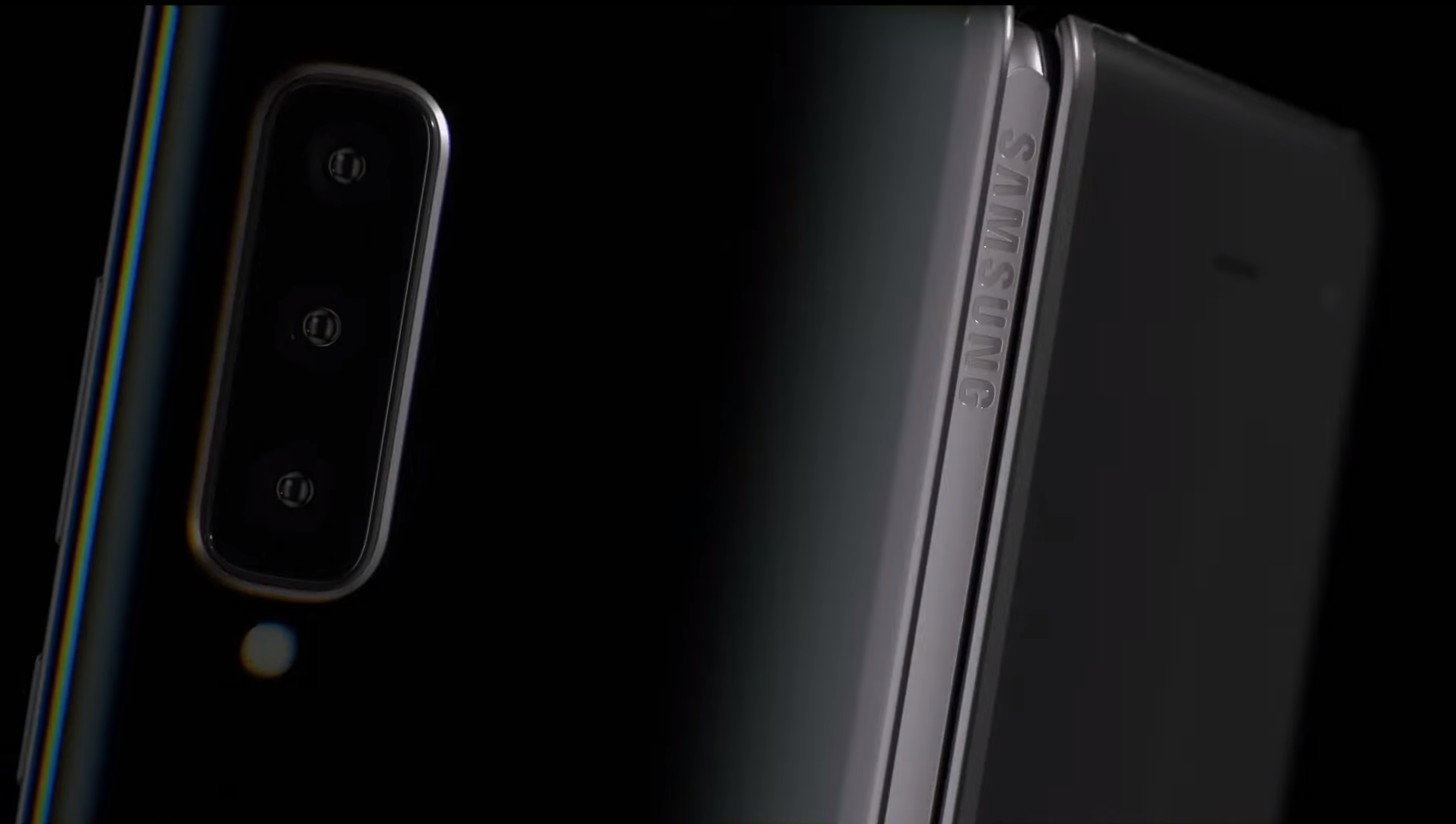 """That """"Samsung"""" logo on the hinge is the Galaxy Fold's most important feature."""