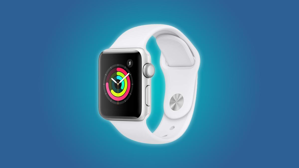 A white Apple Smart Watch Series 3