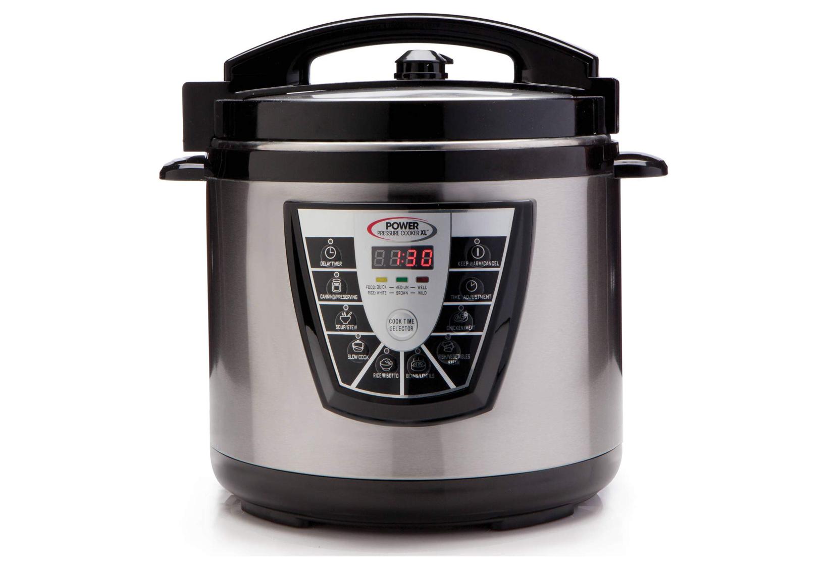 This model has a massive ten quart cooking capacity.
