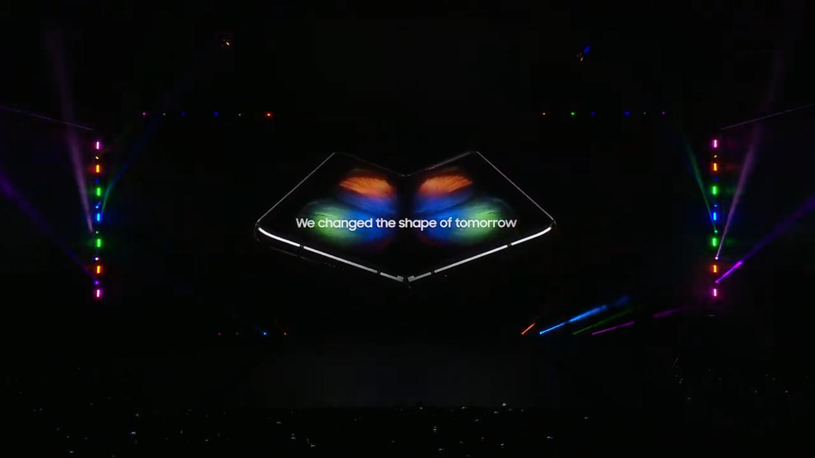 Samsung unveils the Galaxy Fold in San Francisco.