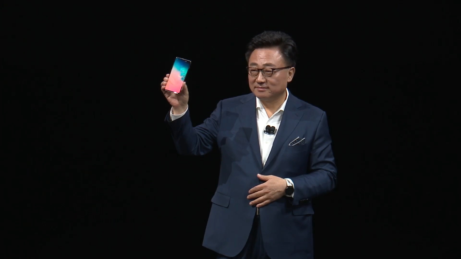 Samsung's CEO personally introduced the Galaxy S10+, not the Galaxy Fold.
