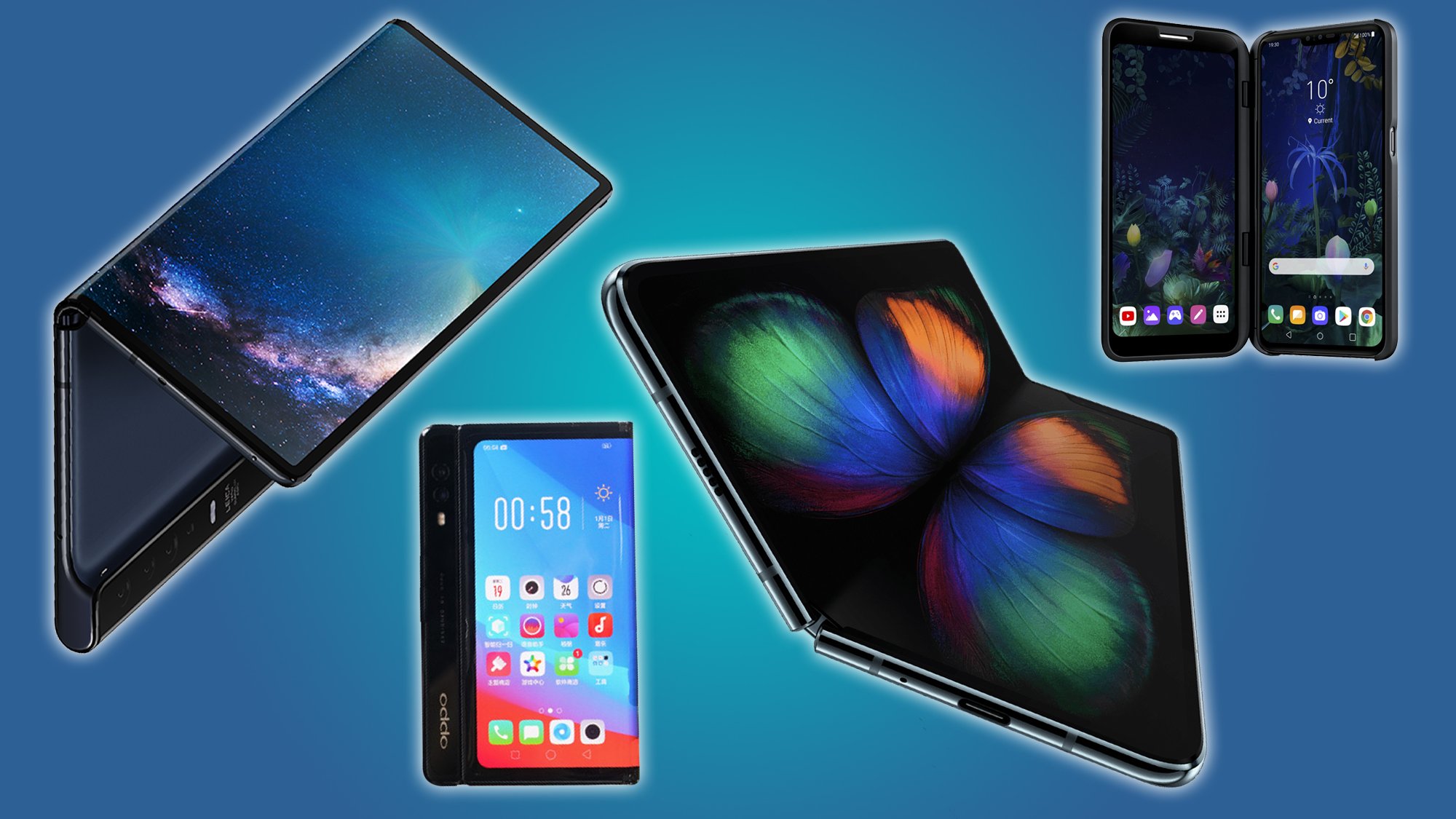 Several different phone companies have shown off folding designs at MWC.