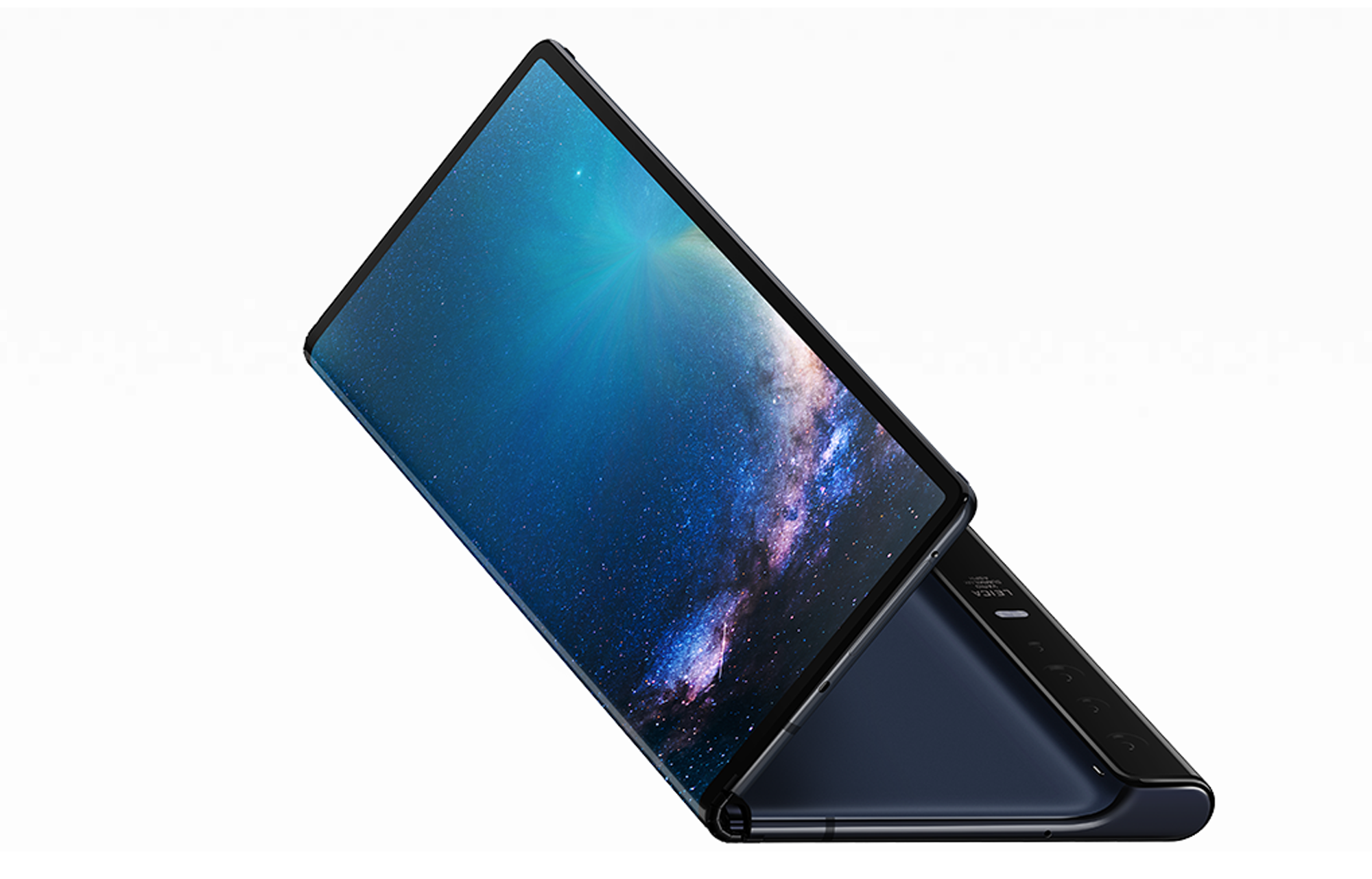 Huawei's Mate X uses a single exterior screen that folds in half.
