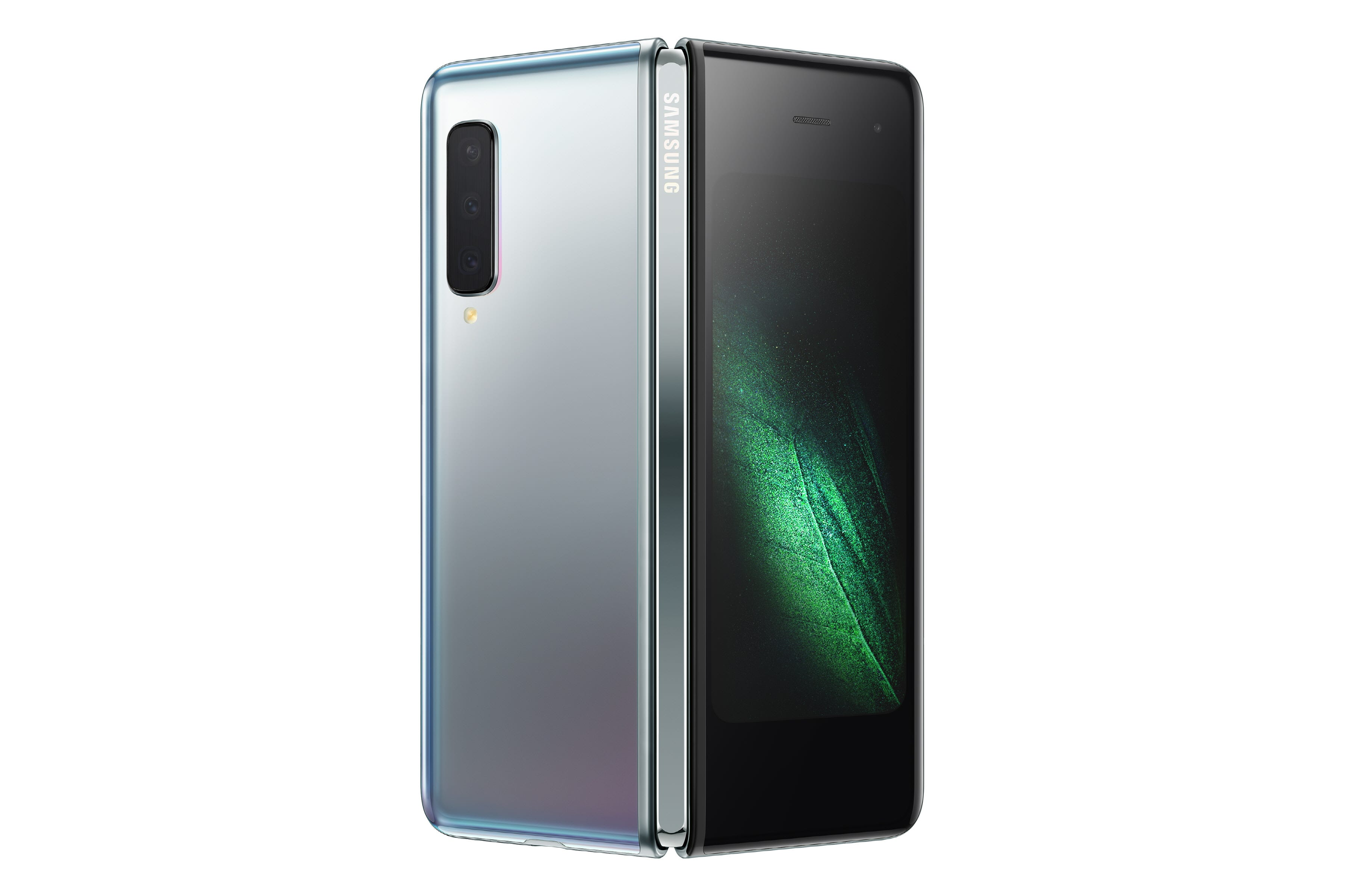 """The front and back """"cover"""" of the Galaxy Fold."""