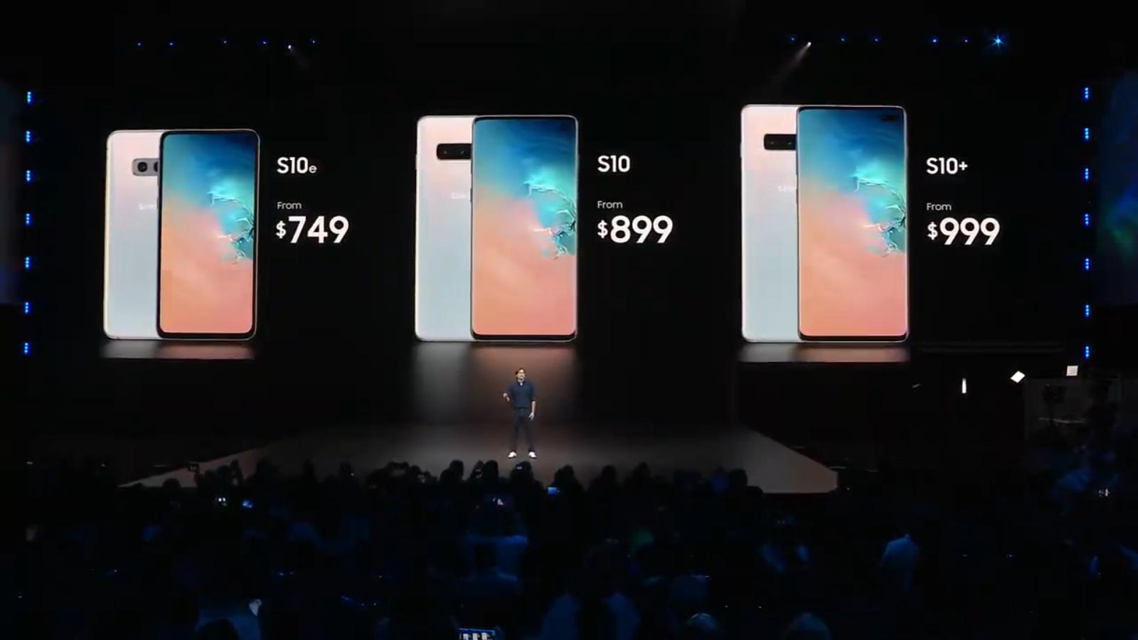 Galaxy S10 pricing